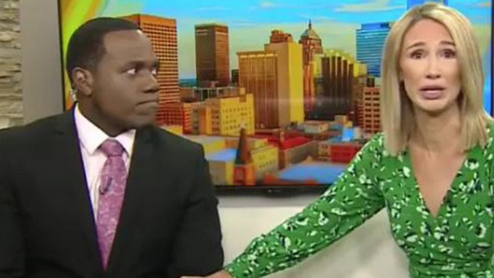 Oklahoma TV anchor apologizes on air to black colleague she compared to a gorilla.