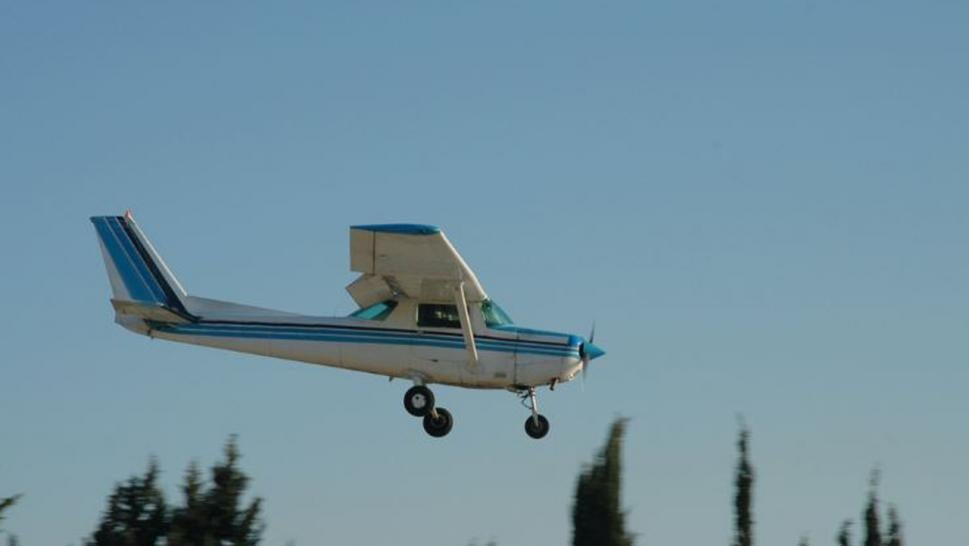The two-seater Cessna was safely landed by a first-time flying student.