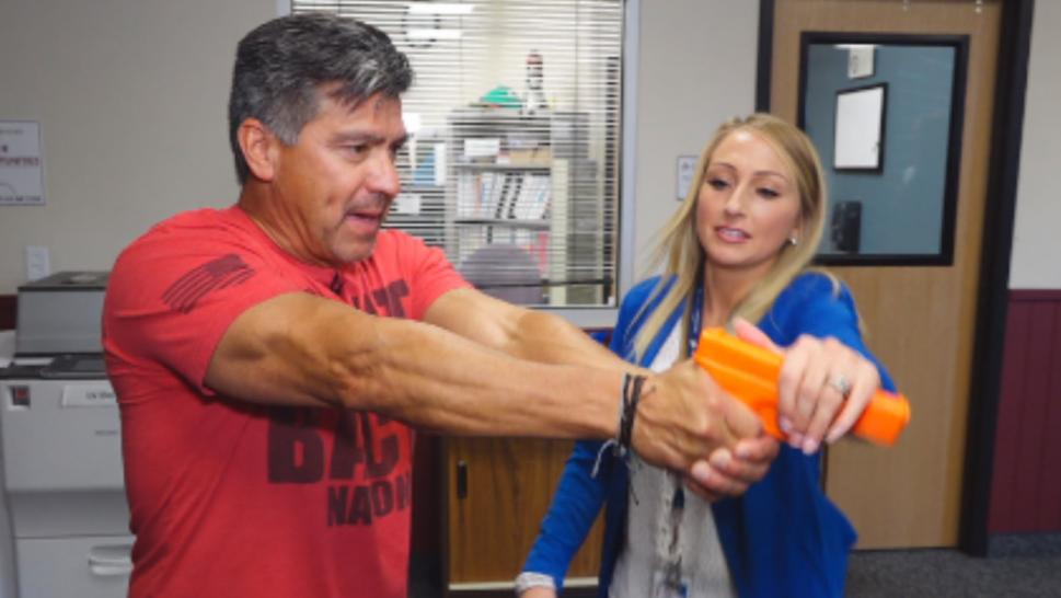 Las Vegas teachers are going back to school to learn how to take down an active shooter.