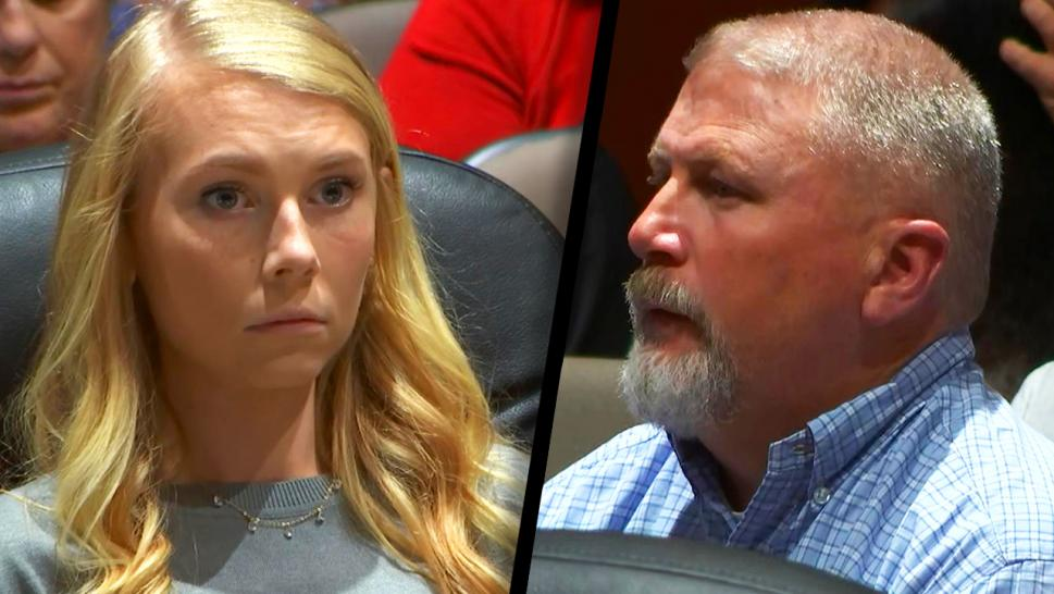 Brooke Skylar Richardson and her father in court