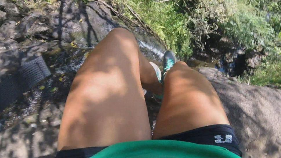 Woman's GoPro Captures 50-Foot Tumble Over Waterfall