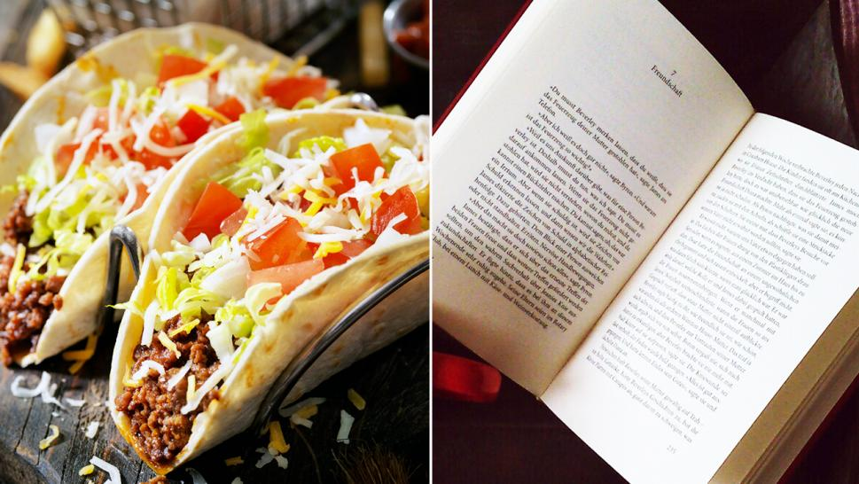 Librarian Shares Photo of Entire Taco Pressed Between Pages of a Returned Book