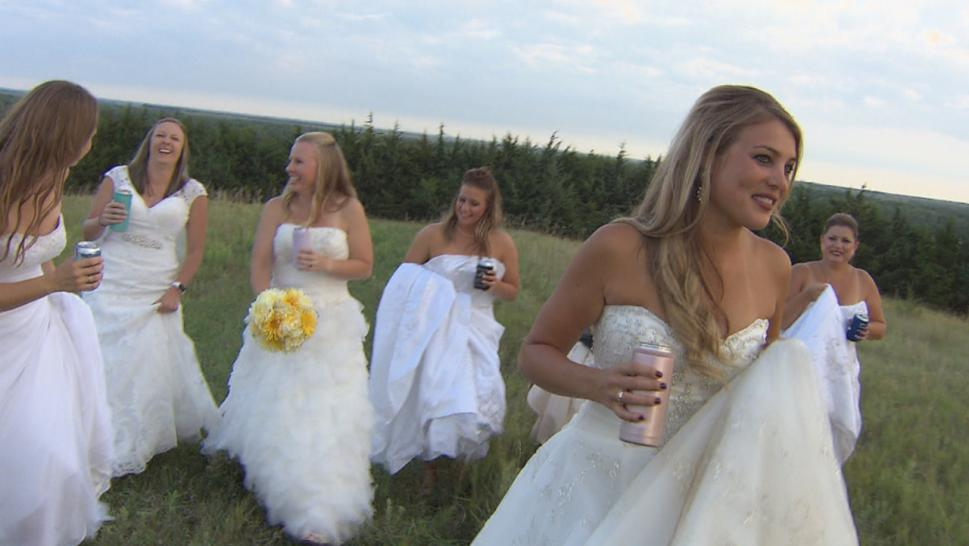 Katie Swantek wanted to make some new memories in her wedding gown.