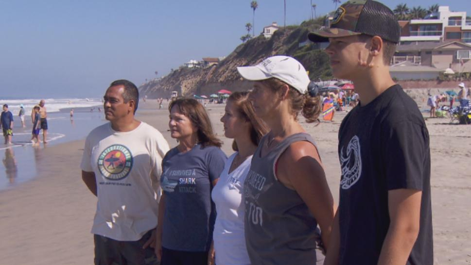 These shark attack survivors have formed a special club.