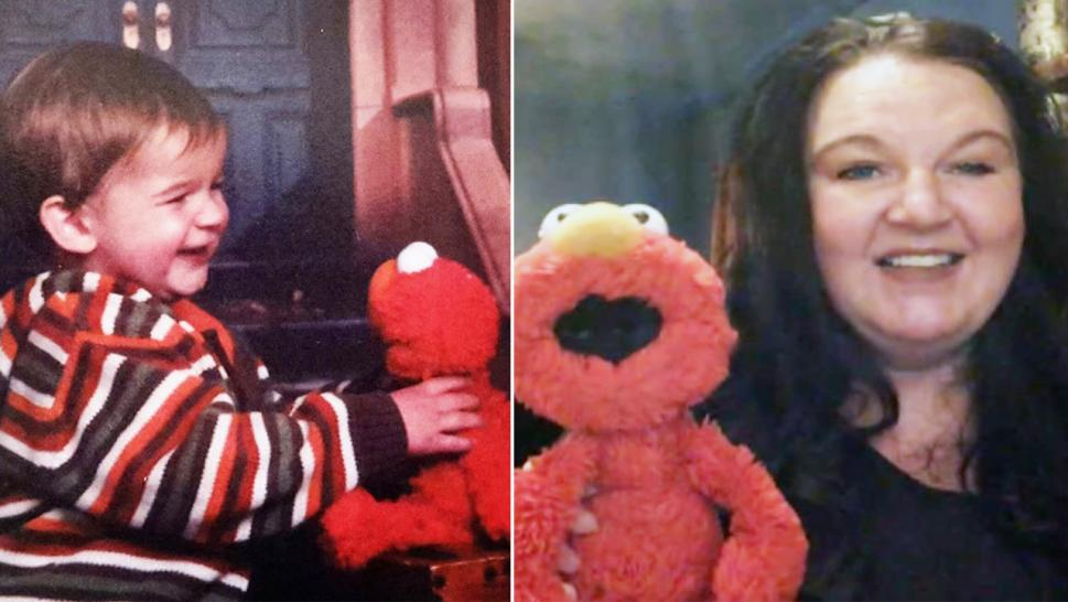 Tucker's mom was reunited with her late son's lost Elmo, more than 10 years after the toy was lost after a photo shoot.