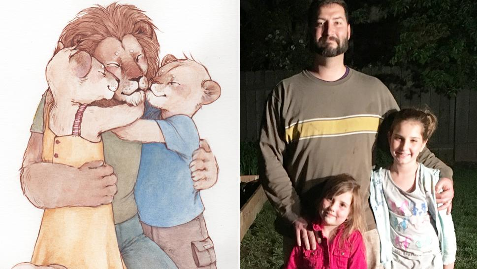 "Seth Kastle explains his PTSD to his daughters using a book he wrote himself, ""Why is Dad so Mad?"""