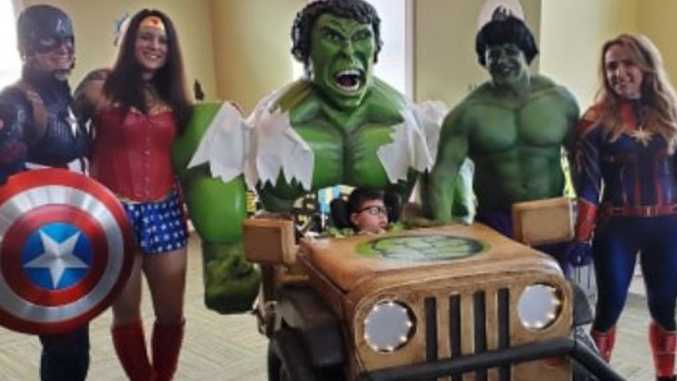 A 4-year-old with cerebral palsy got an amazing Halloween costume.