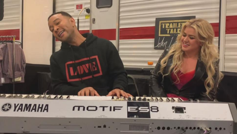 "Now John Legend has announced he's re-recording the song with Kelly Clarkson, his fellow coach on ""The Voice,"" with more appropriate lyrics."