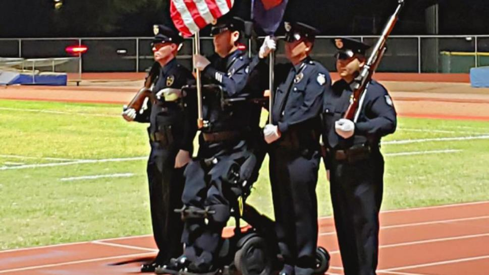 "It was a momentous occasion for Investigator William ""Bill"" Weigt, who was standing for the first time in near 14 years, after having been shot in the line of duty in an incident that left him paralyzed."