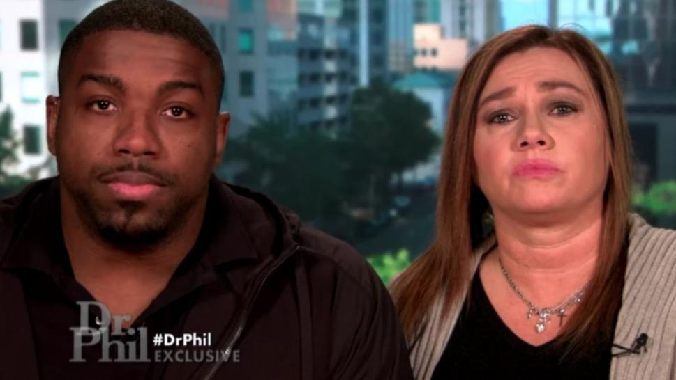 "UFC heavyweight Walt Harris and Aniah Blanchard's mother appeared on ""Dr. Phil."""