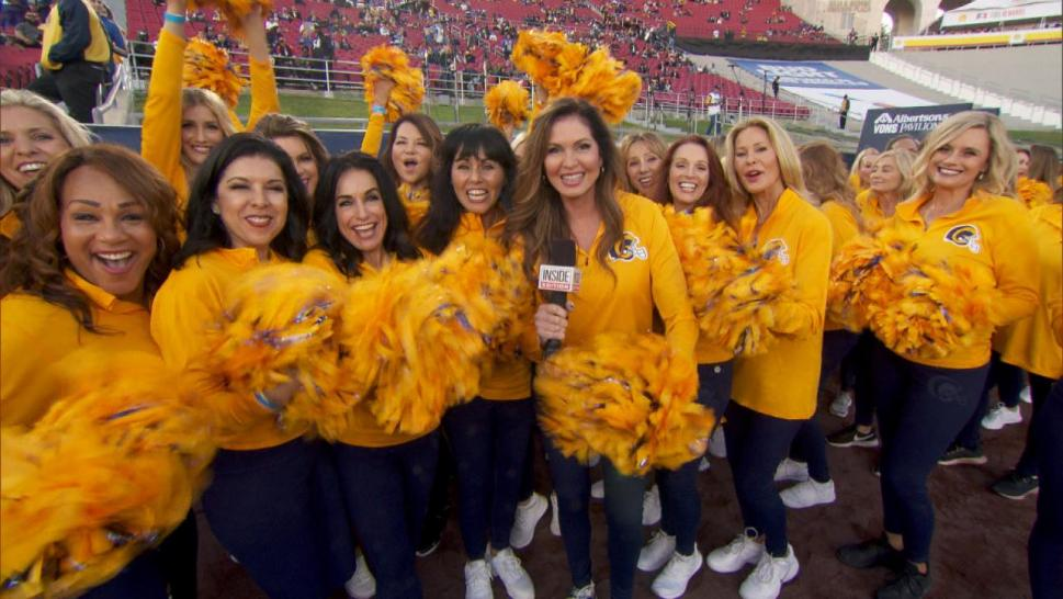 Lisa Guerrero cheers with the Rams