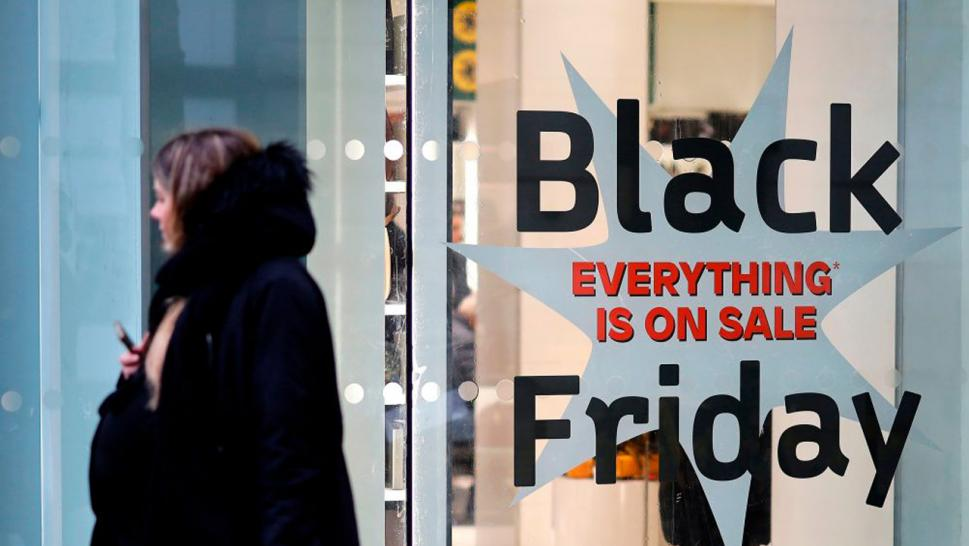 Black Friday is when many consumers shop on sale.