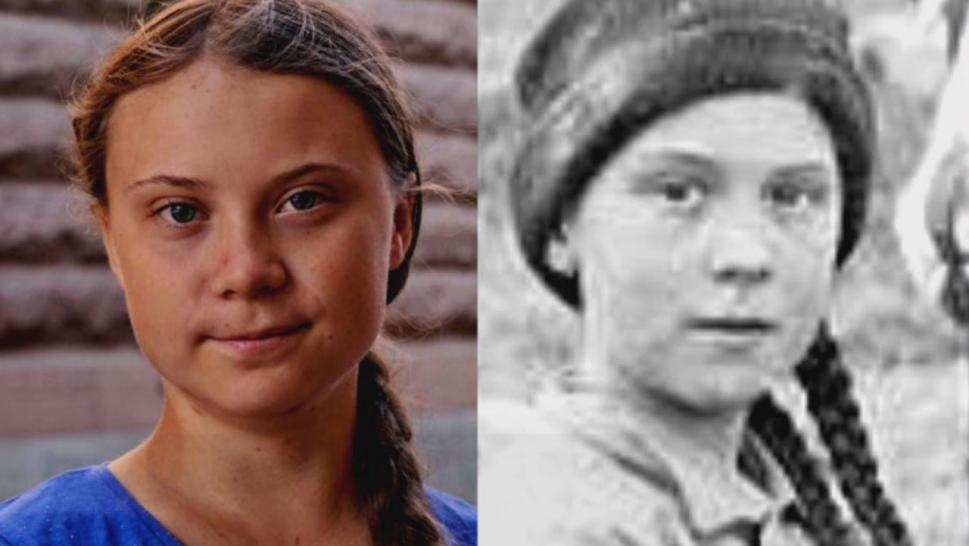 While many on social media would like to think Thunberg and the individual in a photo taken during the Klondike Gold Rush in 1898 are the same person, experts are here to burst their bubble.