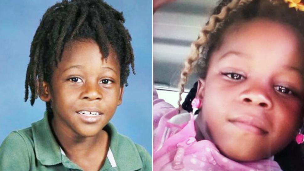 Six-year-old Braxton Williams, left, and 5-year-old Bri'ya Williams, right, are still missing after disappearing from near their home Sunday morning.