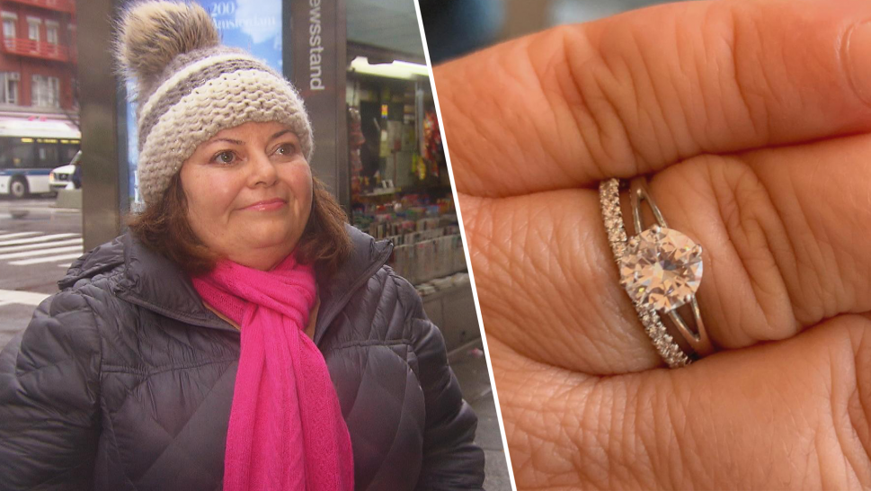 Woman who lost diamond ring