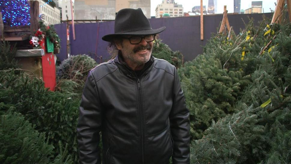SoHo Trees' Scott Lechner introduces the different species of Christmas trees they sell at their Tribeca location in New York City.