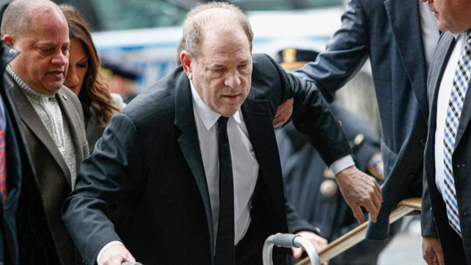 Harvey Weinstein arriving at New York City court for the opening of his criminal trial.