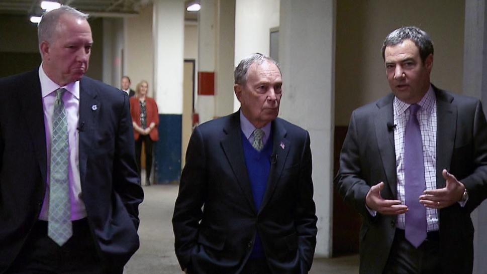 Former mayor and presidential hopeful Michael Bloomberg shared with Inside Edition the goal of his long days spent campaigning.