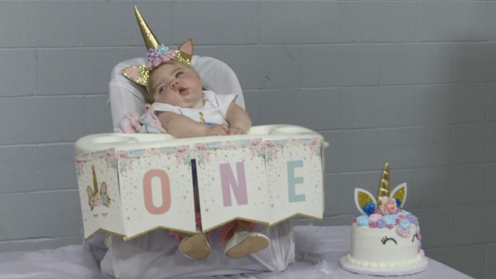 Addilyn Woodard celebrated her first birthday with an extravagant party attended by dozens of family and friends, all overjoyed to take part in the important milestone.