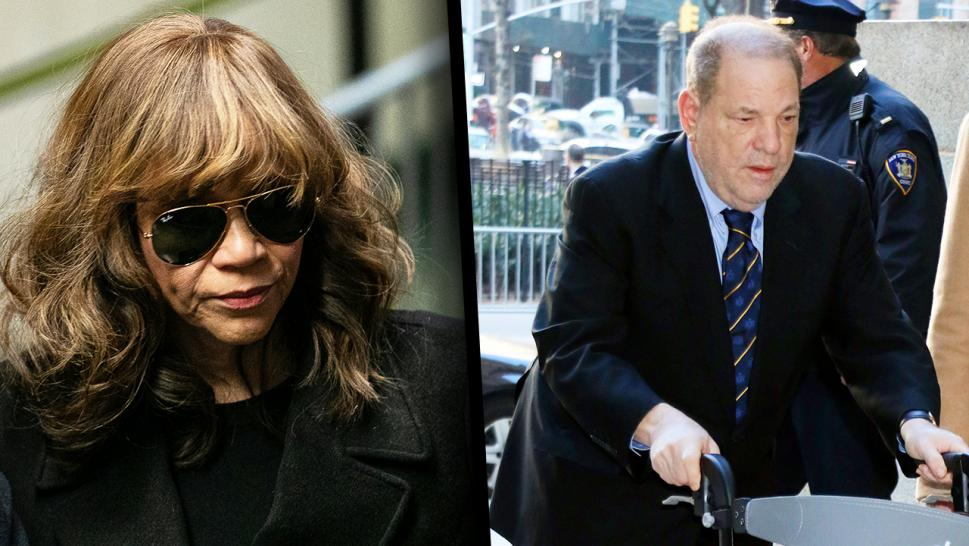Rosie Perez and Harvey Weinstein