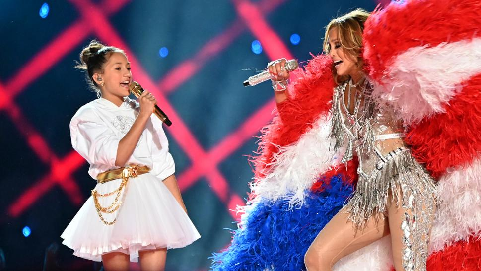 JLo's daughter Emme Maribel Muñiz stole the show at the Super Bowl halftime show.