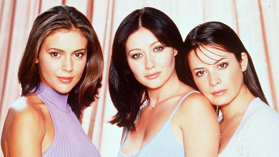 "Alyssa Milano, Shannen Doherty and Holly Marie Combs appear in an early ""Charmed"" photo."