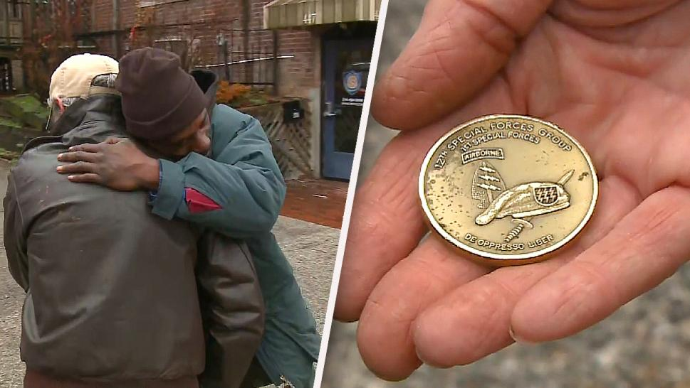 Veteran Thanks Homeless Man Who Found and Returned Rare Coin Stolen from His Car