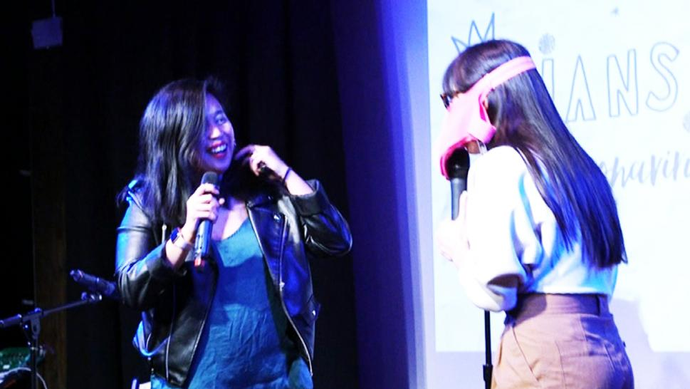 Comedians Esther Chen and Kyle Marian introduce the ineffectiveness of face masks in their comedy show.