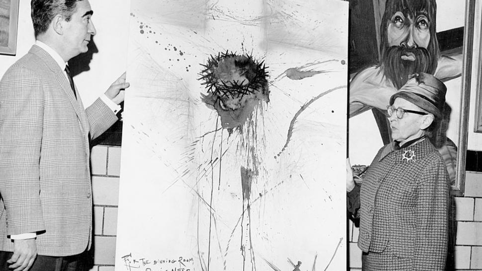 Salvador Dali gifted Rikers Island a drawing of Christ on the cross.