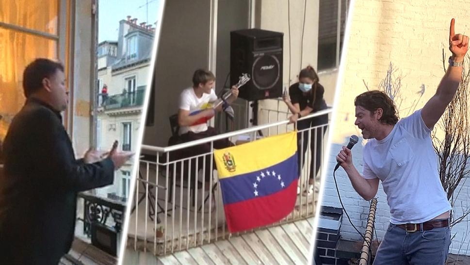Neighbors Serenade Each Other During Coronavirus Pandemic