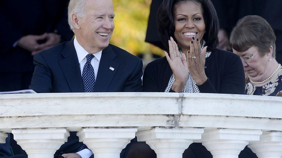 Joe Biden and Michelle Obama in 2012.