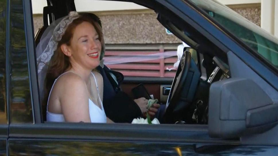 Drive through wedding
