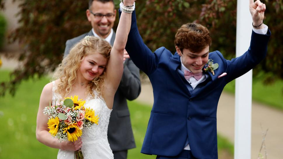 18 year-old marries high school sweetheart