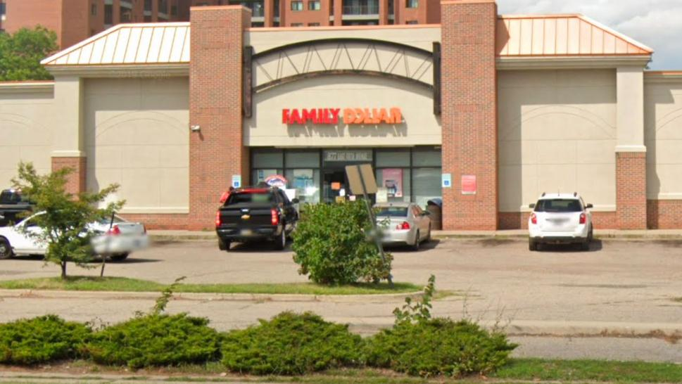 The Family Dollar in Downtown Flint, Michigan.