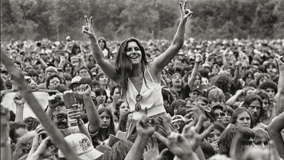 A woman at Woodstock