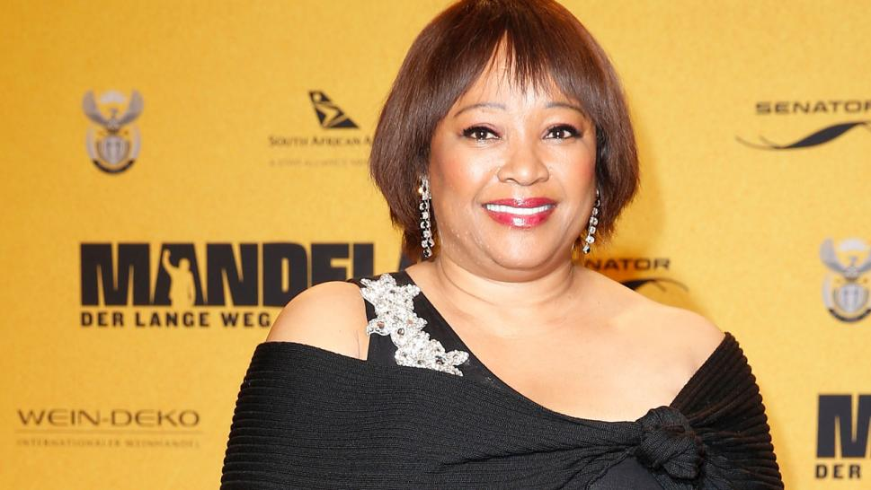 "Zindzi Mandela at the German premiere of ""Long Walk to Freedom."""