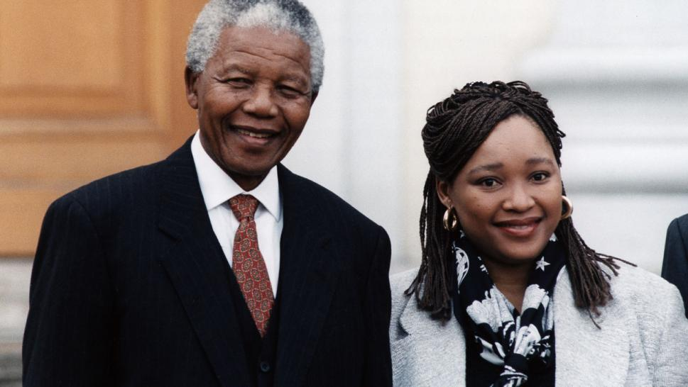 Nelson Mandela and daughter Zindzi Mandela