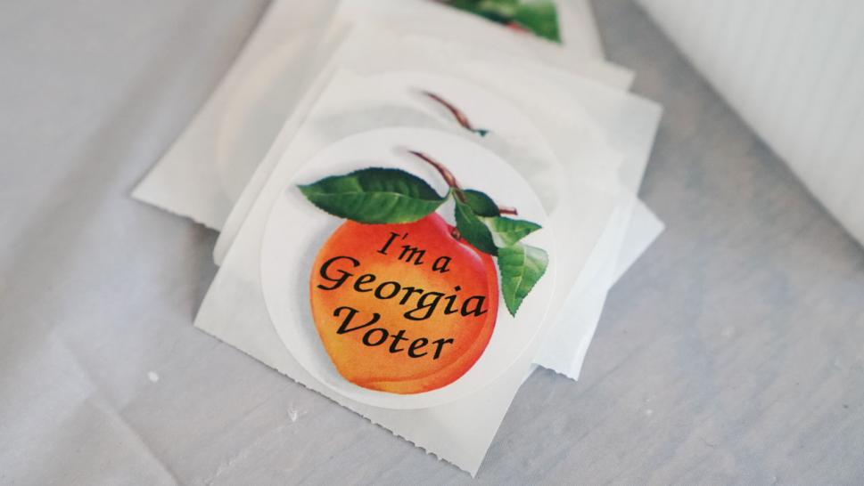 Georgia's Secretary of State's Office said the application did not come from its office and that third-party groups often use mailing lists to get names and addresses.
