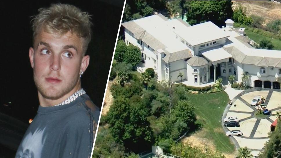 Jake Paul and his mansion in Calabasas