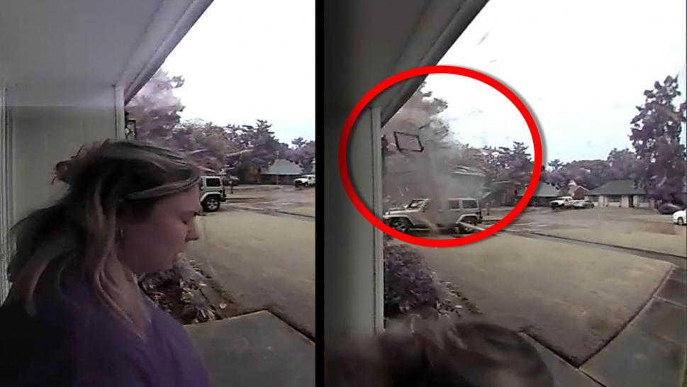 Woman Nearly Struck by Lightning