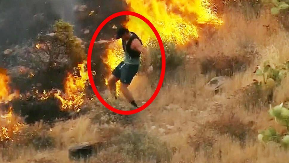 Jogger Stomps Out Arizona Wildfires With His Sneakers