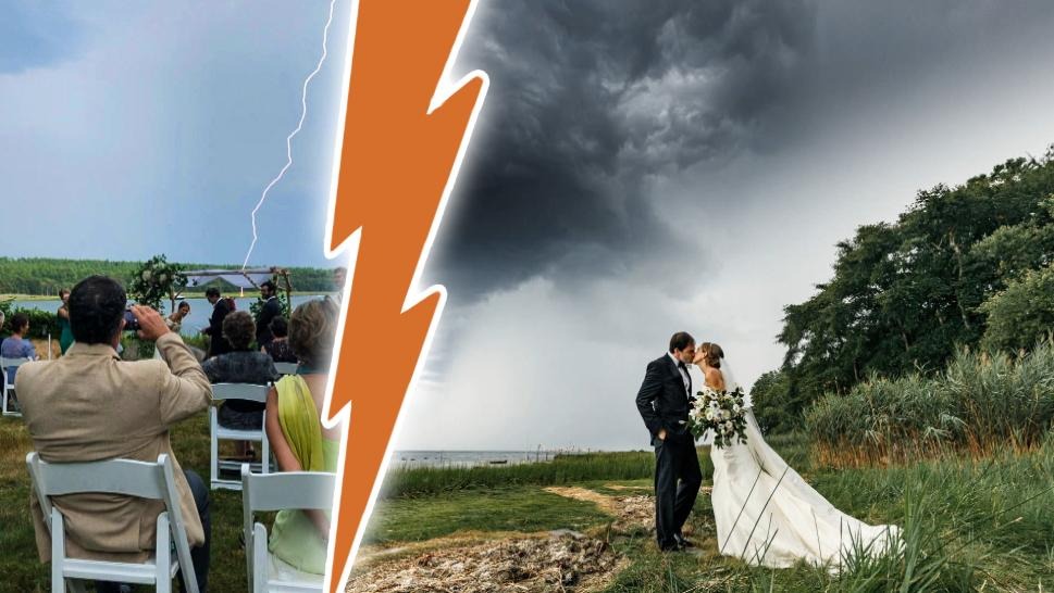 Lightning Strikes Near Wedding as Couple Says Their Vows