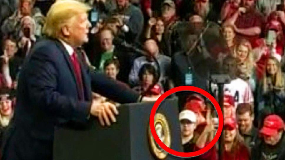 Kyle Rittenhouse at a Trump rally