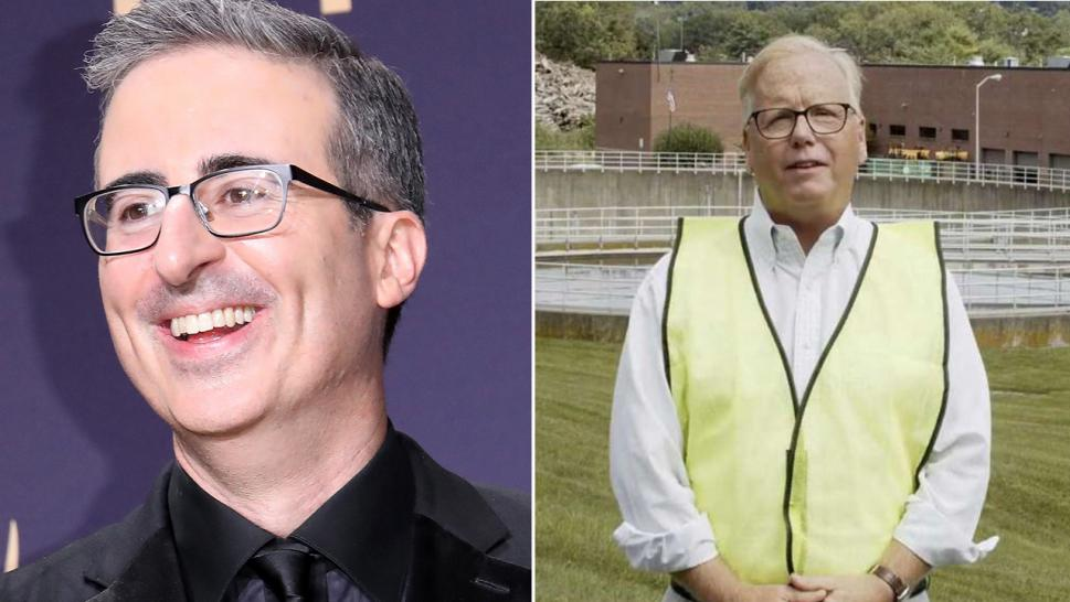 John Oliver and Danbury Mayor Mark Boughton are engaging in a tongue-in-cheek feud.