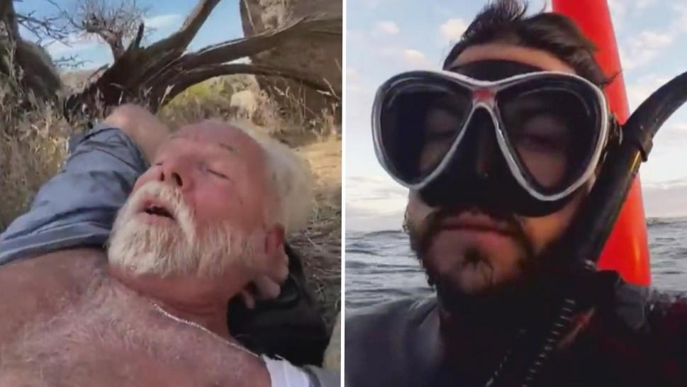 Two men who filmed their goodbyes before being rescued