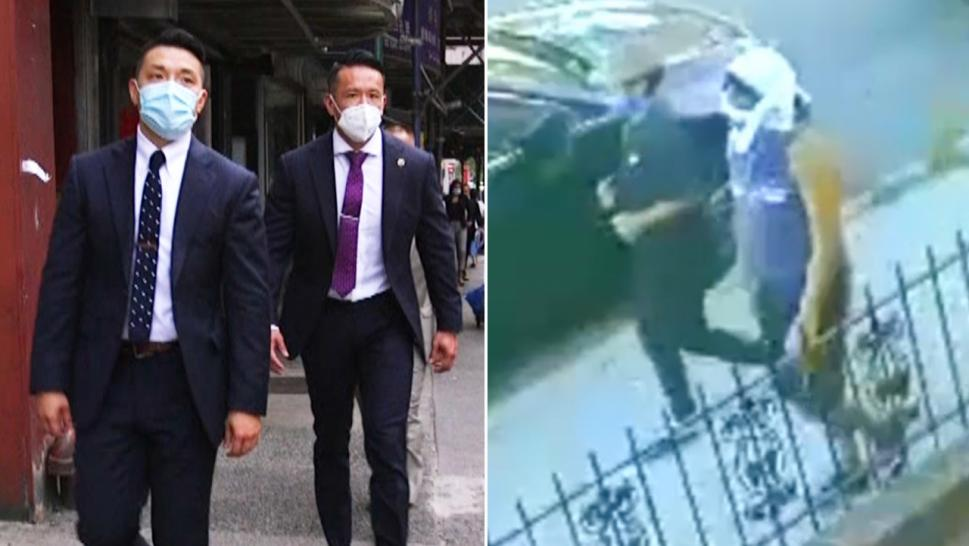 NYPD's Officer Jacky Wong (left) and Deputy Inspector Stewart Loo (right) of the Asian Hate Crime Task Force said they were able to track down the perpetrators by leaning on their heritage.