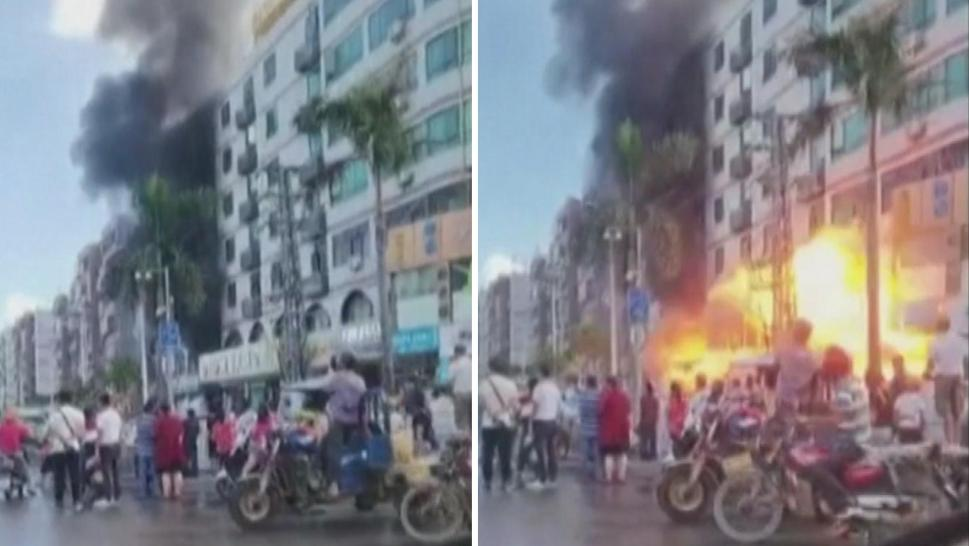 A gas explosion in China