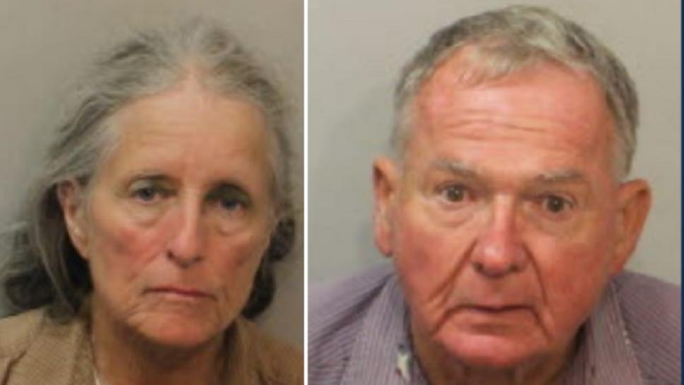 A Florida couple was arrested firing shots in a parking lot.