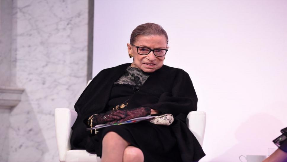 Ruth Bader Ginsberg performed an outdoor wedding over the weekend.