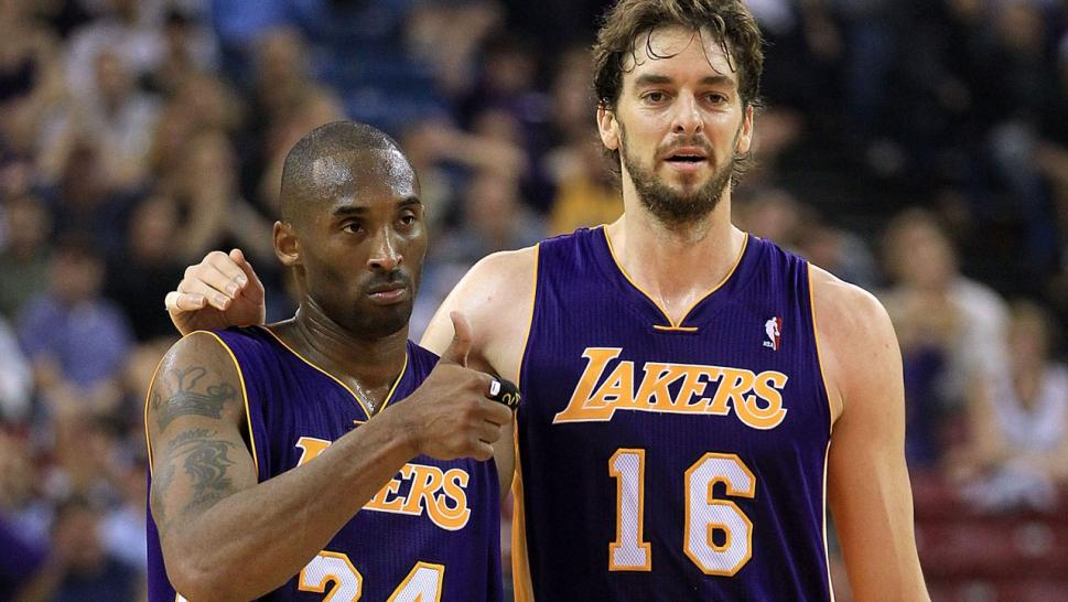 Kobe Byrant and Pau Gasol